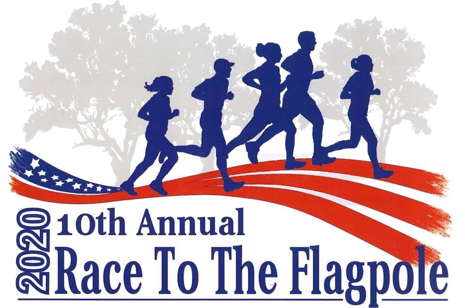 Race to the Flagpole clipart