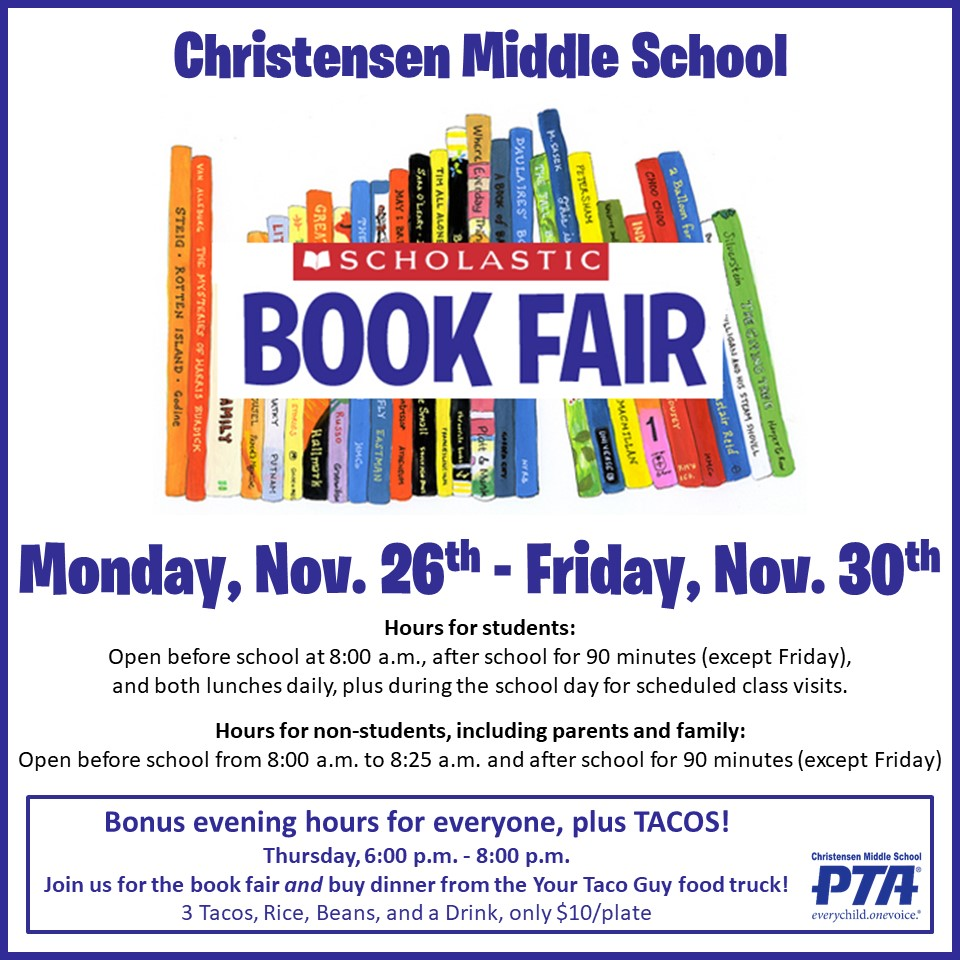 The Scholastic Book Fair Is Coming To The Cms Library