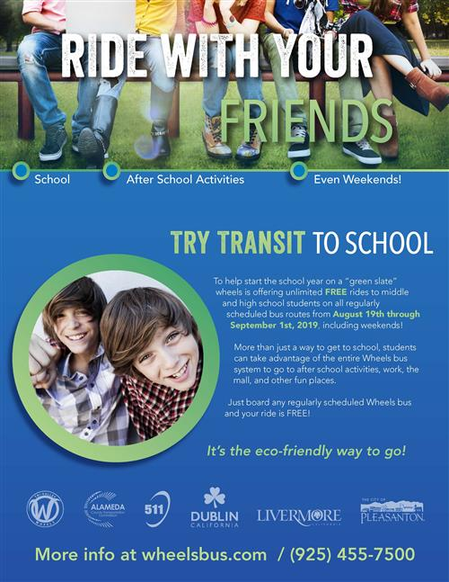 Try Transit to School Flyer page 1