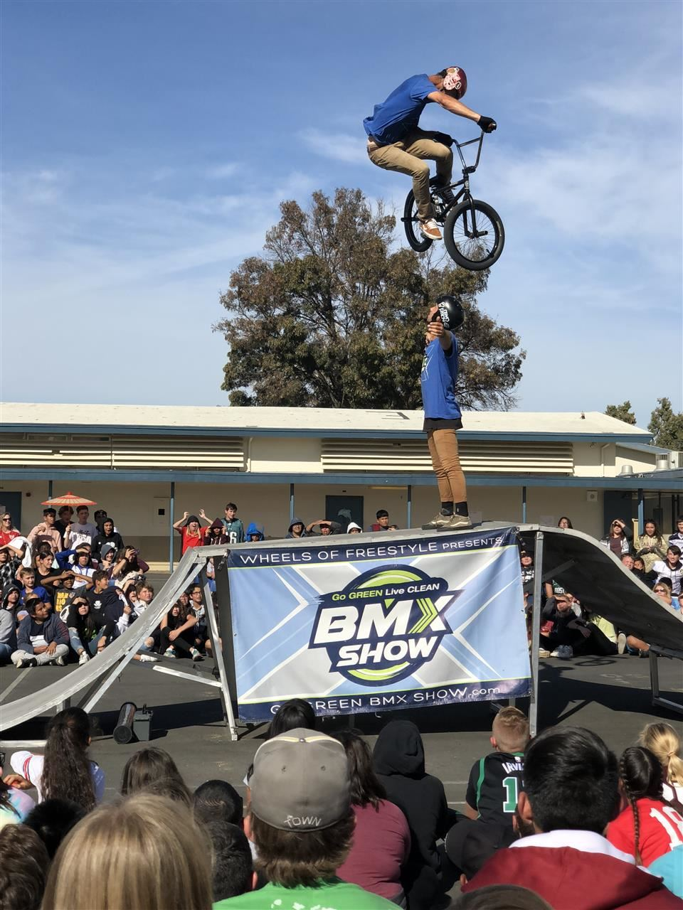 BMX Assembly delivers a motivational presentation