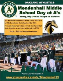 Mendenhall Middle School Day at the A's - 5/24/19 @ 7:07pm
