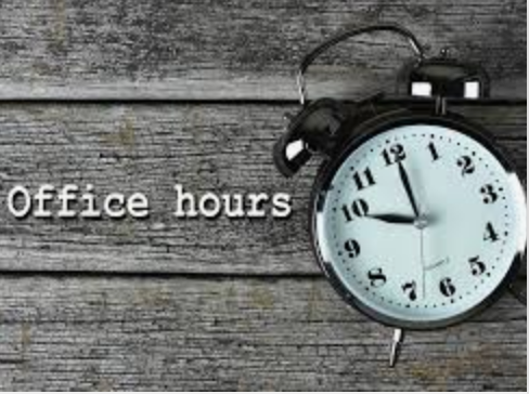 Click For Updated Office Hours