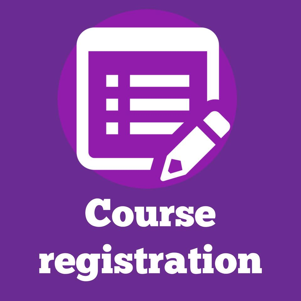 Course Registration for 2019-2020