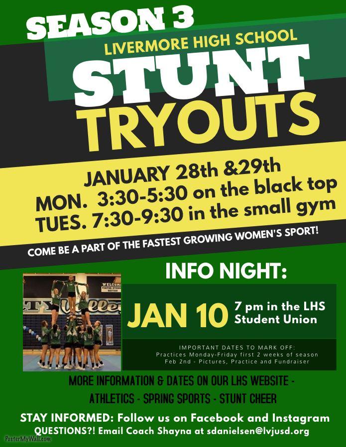 stunt cheer program overview
