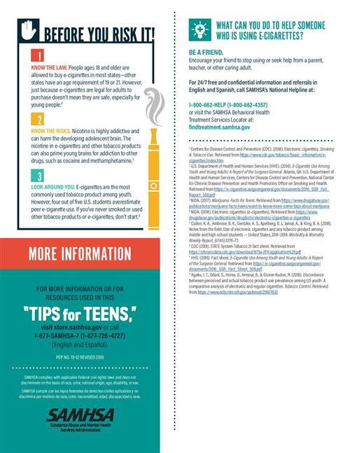 Tips for Teens About E-Cigarettes- Page 2
