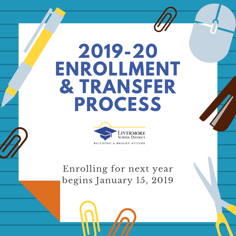 2019-20 Enrollment & Transfer Process Begins January 15, 2019
