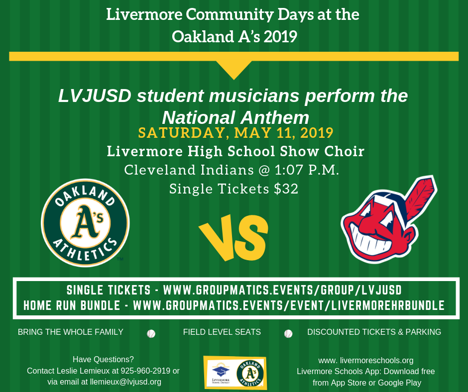 Oakland A's May 11th game flyer