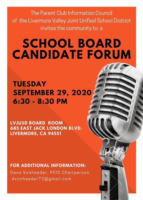 Board Candidate Forum Flyer