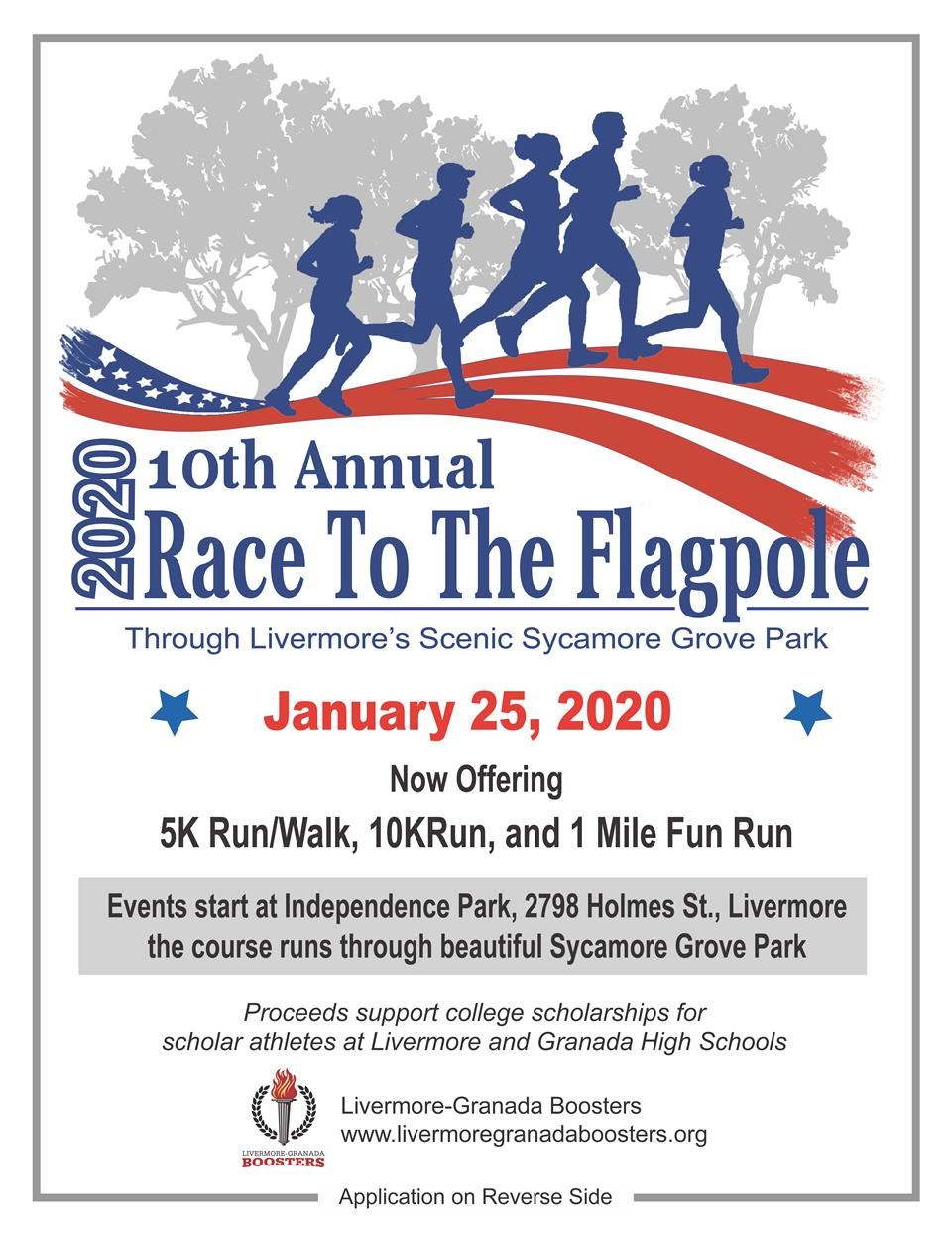 Race to the Flagpole 2020 Flyer