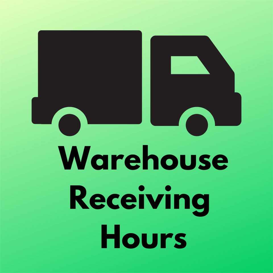 warehouse receiving hours