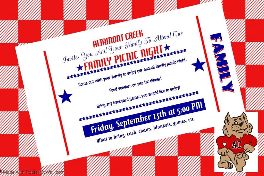 ACE Family Picnic 9/13 5pm