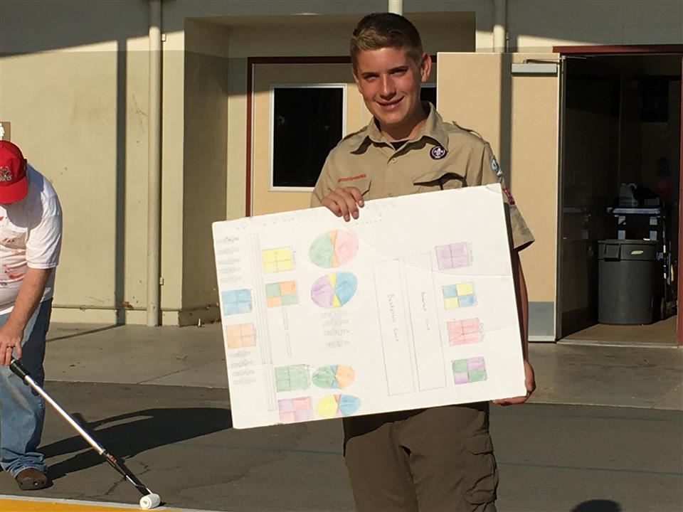 Justin Ison, Eagle Scout Project Leader
