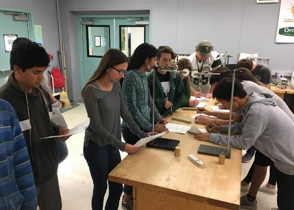 GEA students working on a project