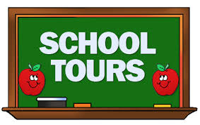 Chalkboard with School Tours